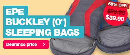 60% price drop on the Explore Planet Earth Buckley Sleeping Bag. Limited stock left so be quick and snag one now.