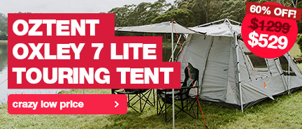 Red hot prices on the Oztent Oxley Tents, up to 60% off.