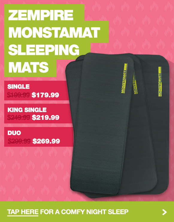 Low prices on all 3 sizes of the Zempire Monstamat Self Inflating Camp Mats
