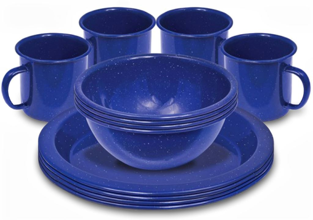 Picture of Campfire 12 Pce Enamel Dinner Set Navy Blue