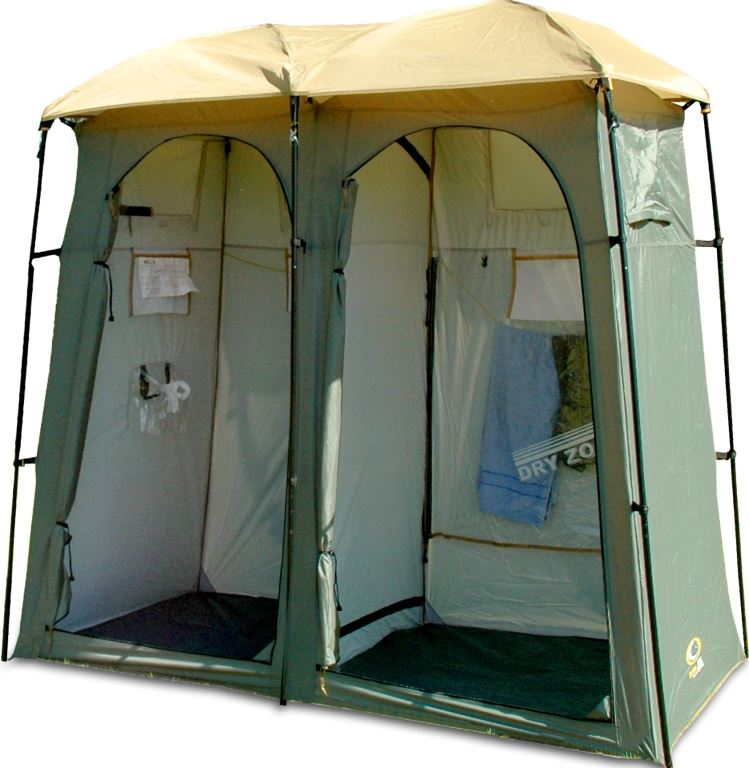 Picture of Outdoor Connection Double Outhouse Toilet Shower Tent