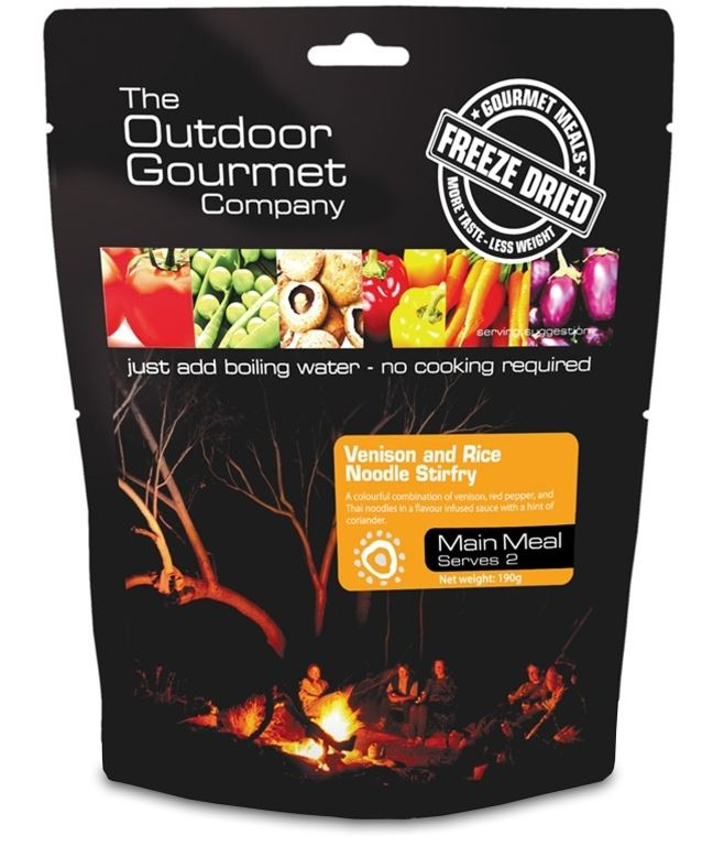 Picture of The Outdoor Gourmet Company Venison & Rice Noodle Stirfry - Double Serve