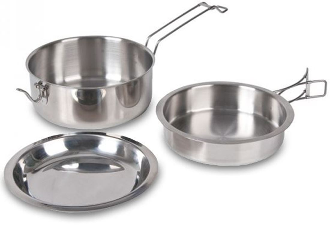 Picture of Kookaburra 3 Pce Stainless Steel Cooking Set