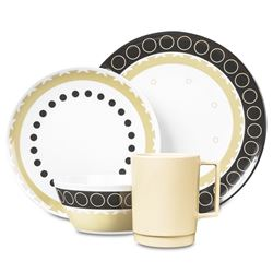 Picture of Campfire 16pc Melamine Dinner Set - Mocha
