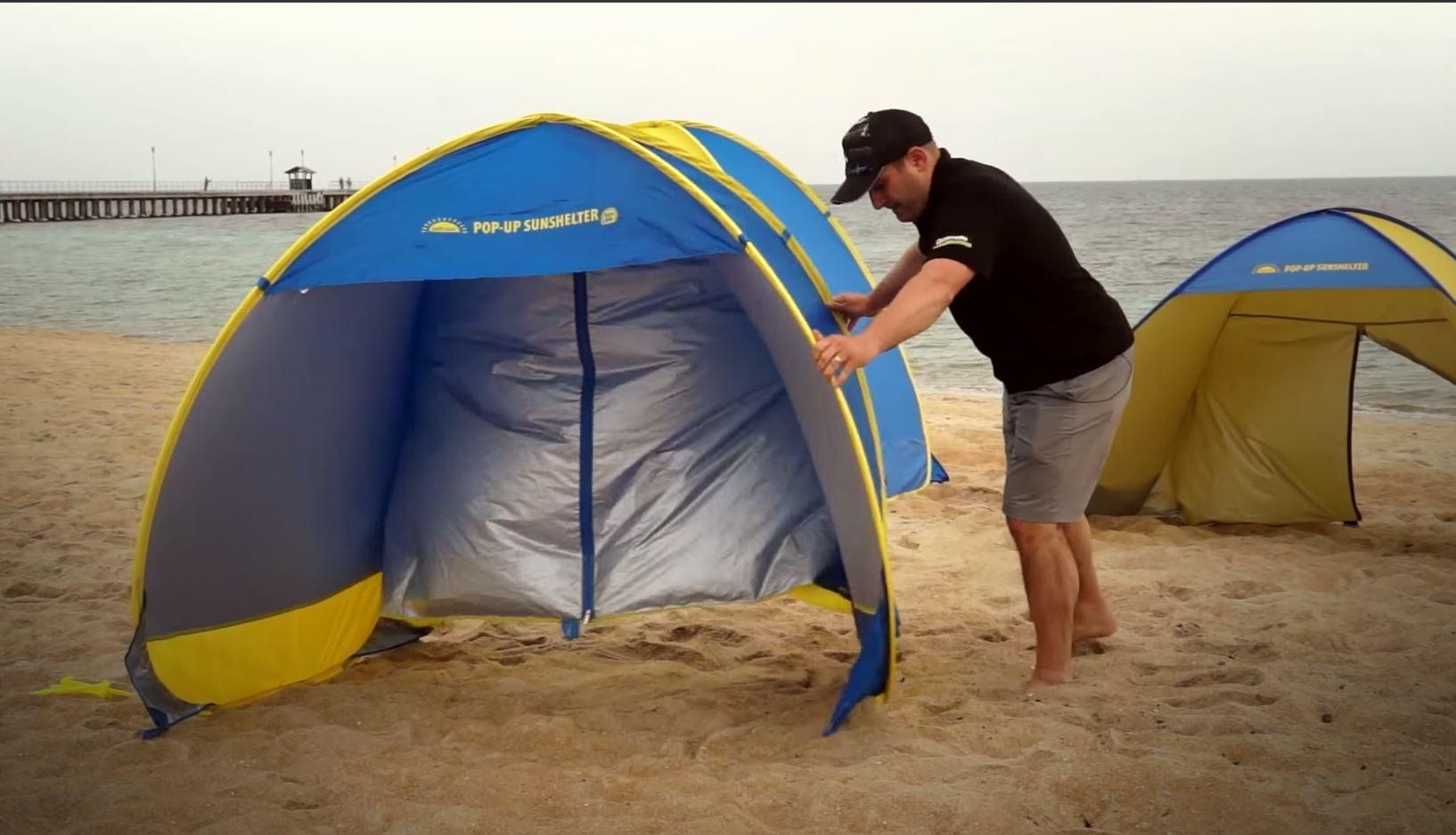 Pop-Up Beach Sunshelter - Small - Video