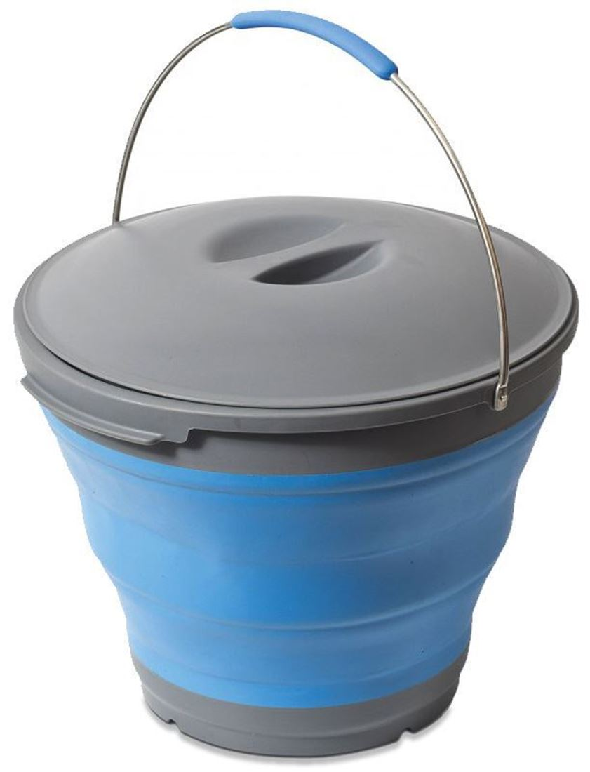 Companion Pop Up Bucket With Lid - Blue