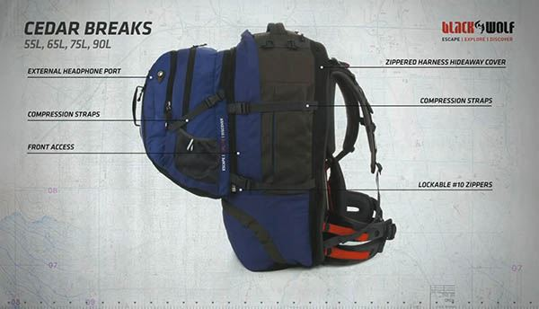 Cedar Breaks 55L Travel Pack - Video