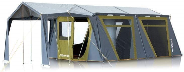 Zempire Titan Canvas Cabin Tent Rear