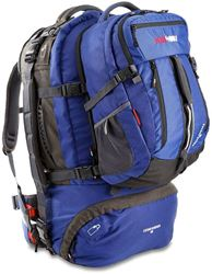 Black Wolf Cedar Breaks Travel Pack 65 Litre Blue