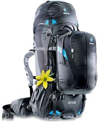 Picture of Deuter Quantum 60+10 SL Hybrid Travel Pack - Black/Turquoise