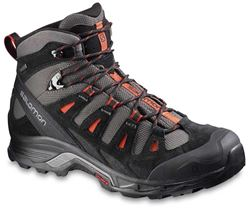 Salamon Quest Prime GTX Men's Waterproof Hiking Boot US10.5 Autobahn/Black/Tomato Red