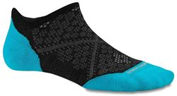 Picture of Smartwool Phd Run Light Elite Micro Wmn's Sock Large - Black/Capri