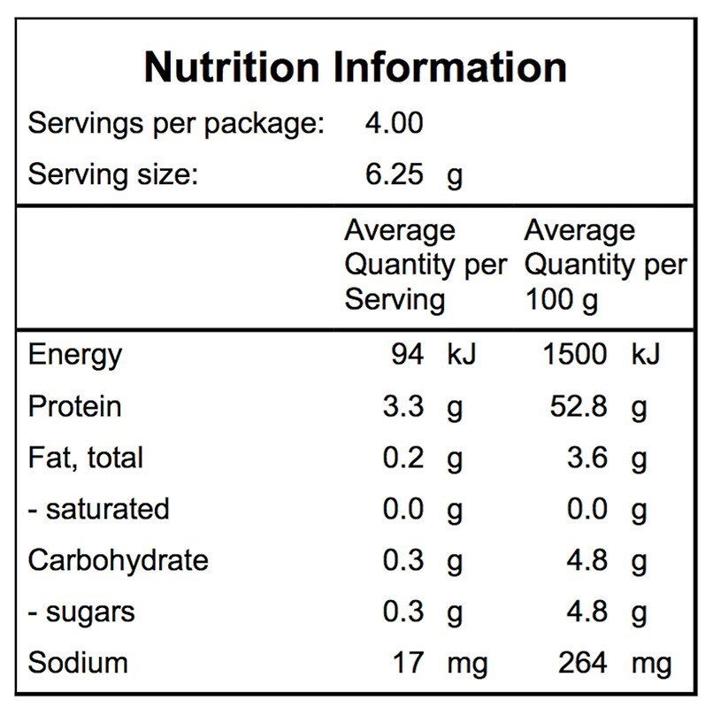Campers Pantry Freeze Dried Broccoli Nutritional Information