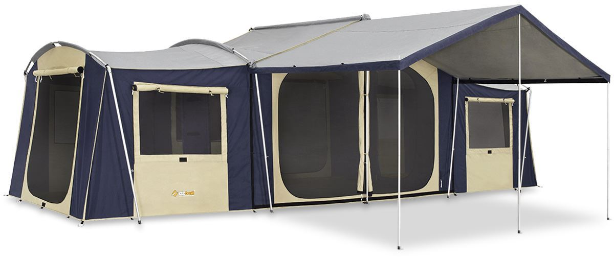 Oztrail Chateau 12 Canvas Cabin Tent + Sunroom + Floor  sc 1 st  Snowys & Oztrail Chateau 12 Tent + Sunroom + Floor | Snowys Outdoors