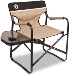 Coleman Steel Deck Chair with Side Table