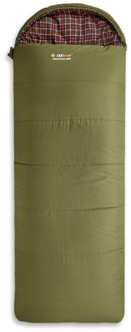 Oztrail Cotton Canvas Sleeping Bag Green
