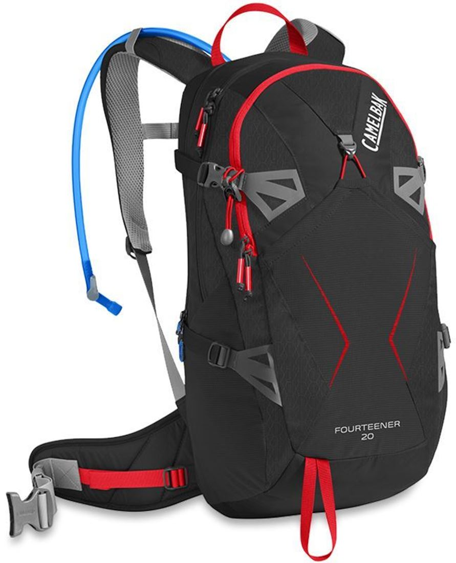 Camelbak Fourteener 20 Hydration Pack Black Fiery Red