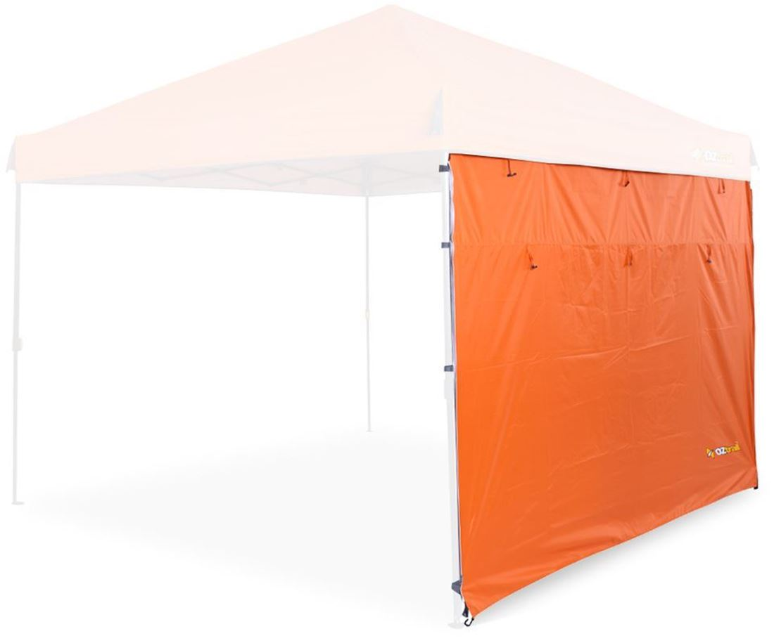 Oztrail Fiesta Gazebo Solid Wall Sunset Orange