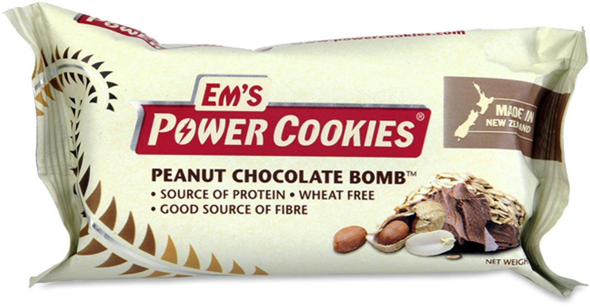 Picture of Em's Power Cookies Peanut Choc Bomb Cookie Bar