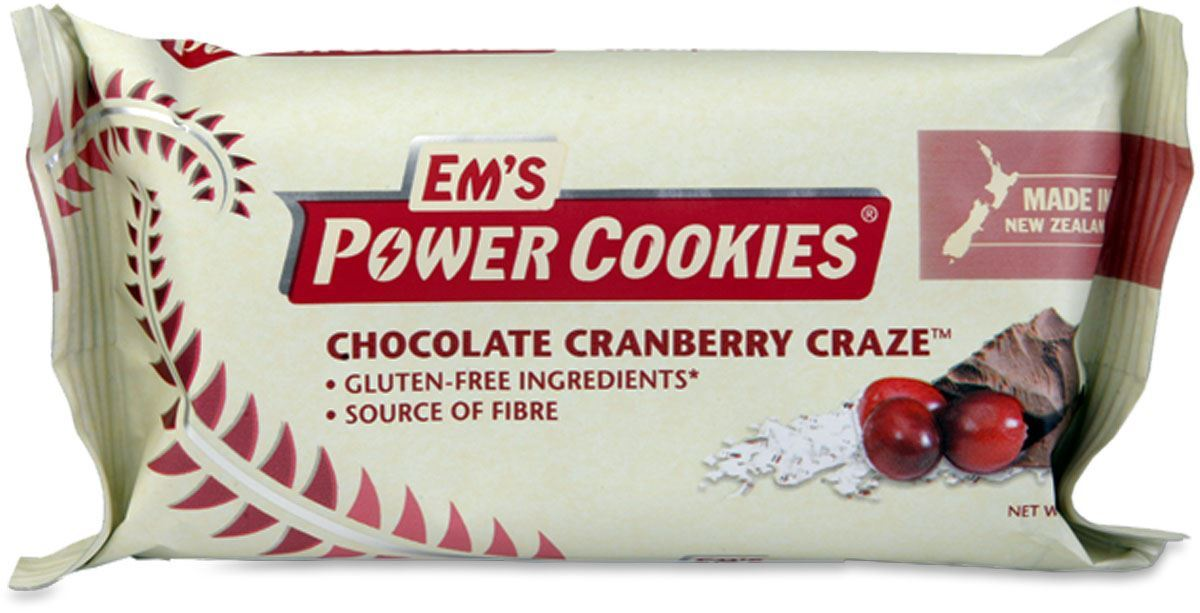 Picture of Em's Power Cookies Choc Cranberry Craze Cookie Bar