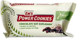 Em's Power Cookies Choc Oat Explosion Energy Bar