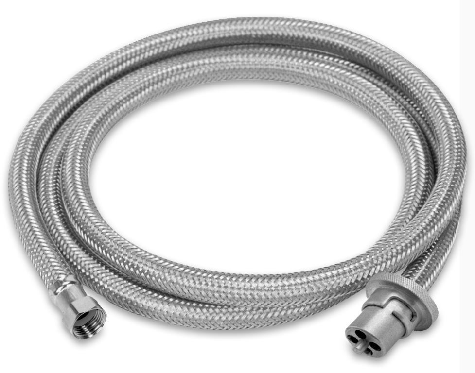 "Picture of Companion Gas Hose Braid 3/8"" SAE to Bayonet"