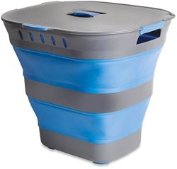 Companion Pop Up Laundry Hamper Basket Blue