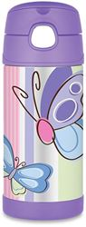 Thermos Funtainer Insulated Kids Bottle Purple Butterfly