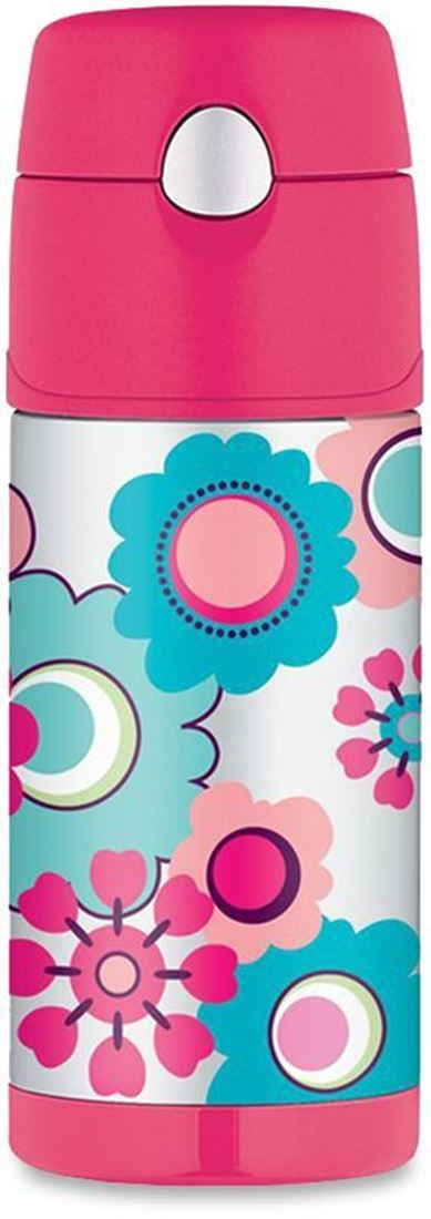 Thermos Funtainer Kids Insulated Drink Bottle Flower