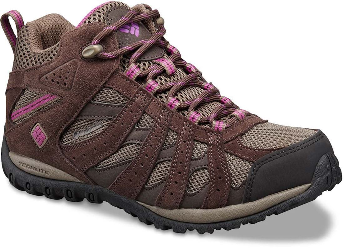 Columbia Redmond Mid WP Women's Hiking Boot Mud Intense Violet