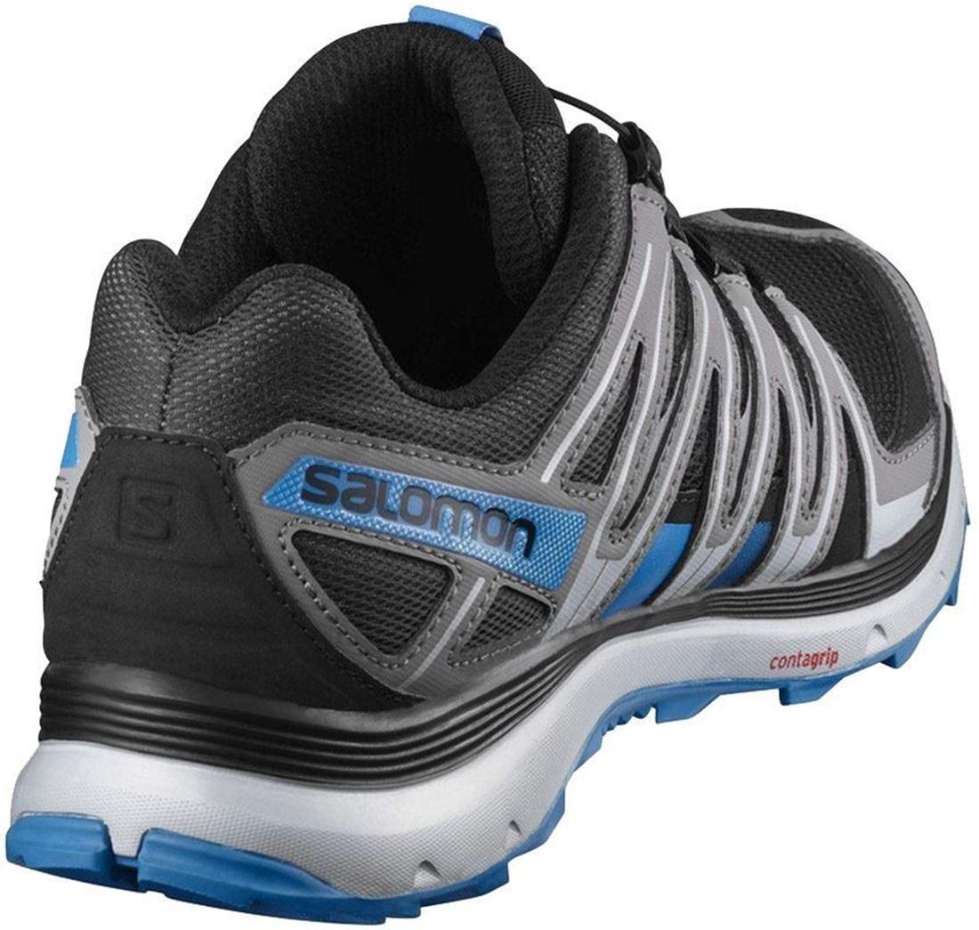Salomon XA Lite Men's Shoe Black Shade Blue Rear View