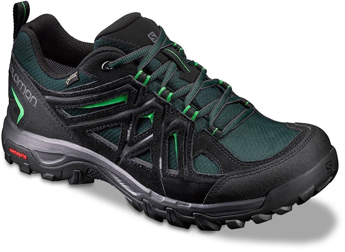 Salomon Evasion 2 GTX Men's Shoe Scarab Black Classic Green