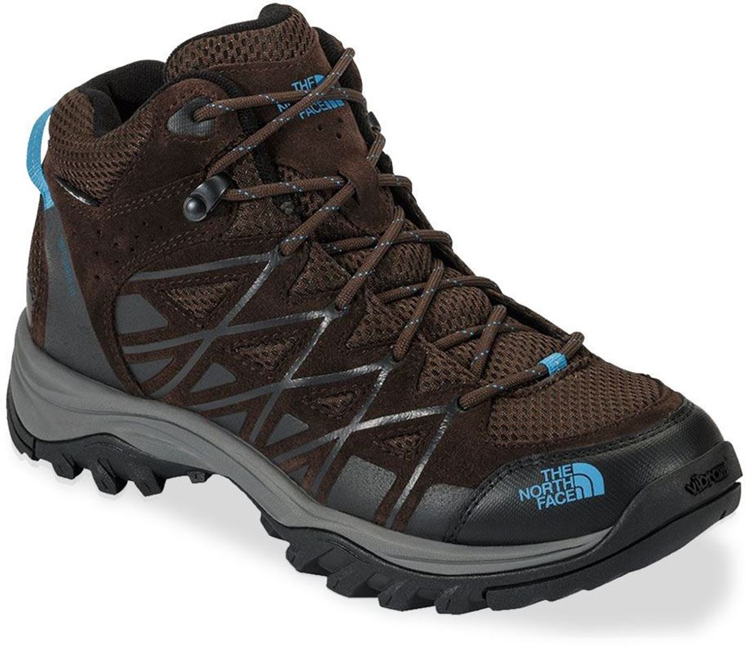 The North Face Storm III Mid WP Wmn's Shoe Demitasse Brown Hyper Blue