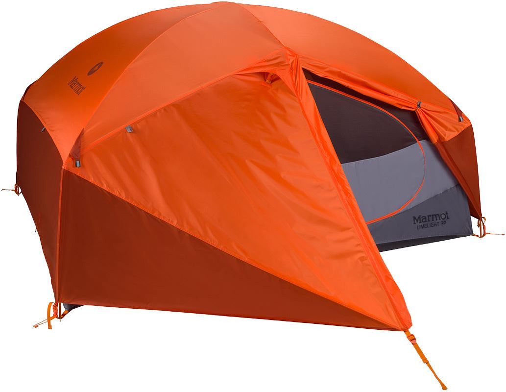 Marmot Limelight 3P Hiking Tent with closed fly