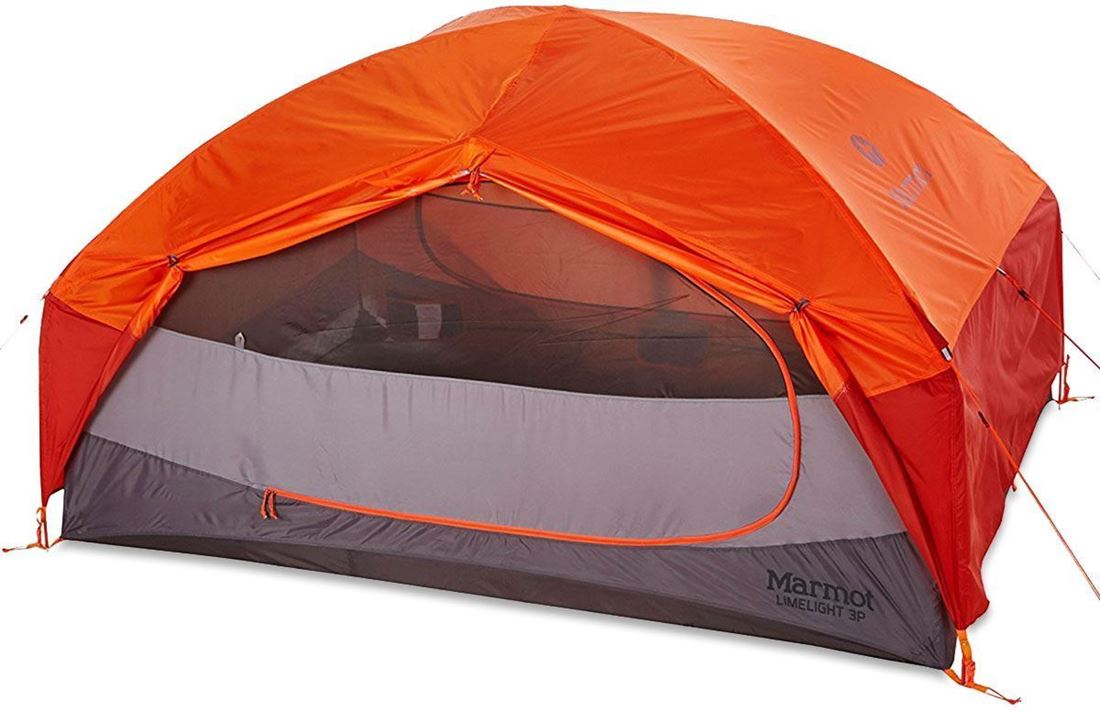 Marmot Limelight 3P Hiking Tent showing Large Double D Door
