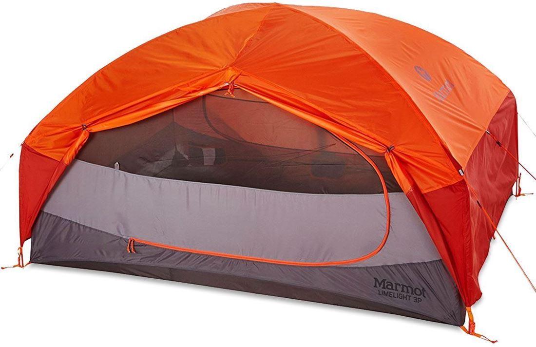 Marmot Limelight 3P Hiking Tent showing Large Double D Door