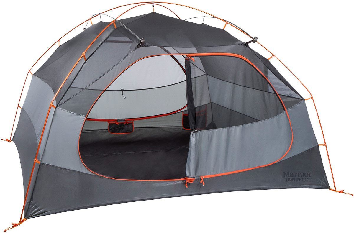 Marmot Limelight 4P Hiking Tent Showing Inner Double Door