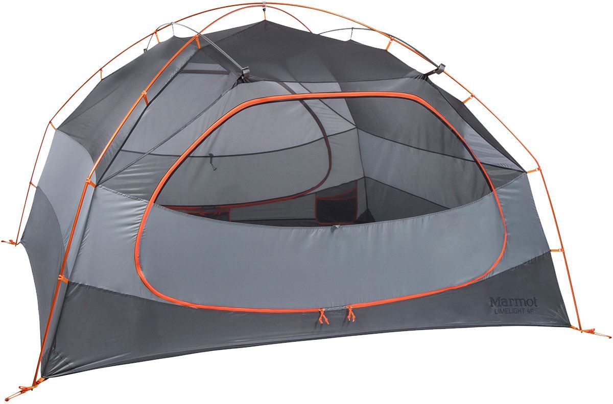 Marmot Limelight 4P Hiking Tent Showing Closed Inner Door