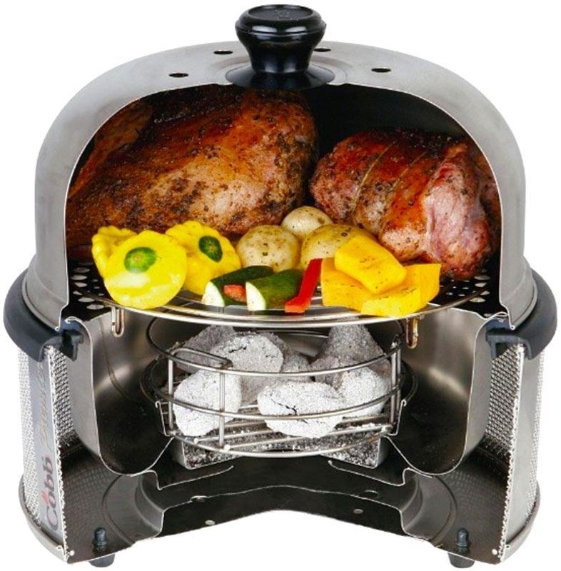 Cobb Premier Portable Grill cooking food
