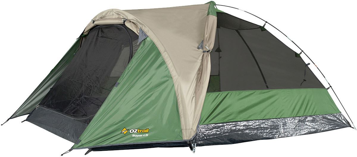Oztrail Skygazer 4XV Dome Tent with Flysheet Rolled Back