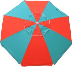 Beachkit Fiesta 195cm Beach Umbrella Turquoise Orange