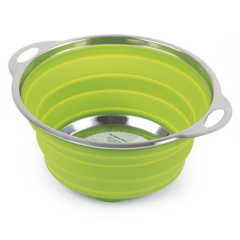 Companion Pop Up Silicone Colander Green