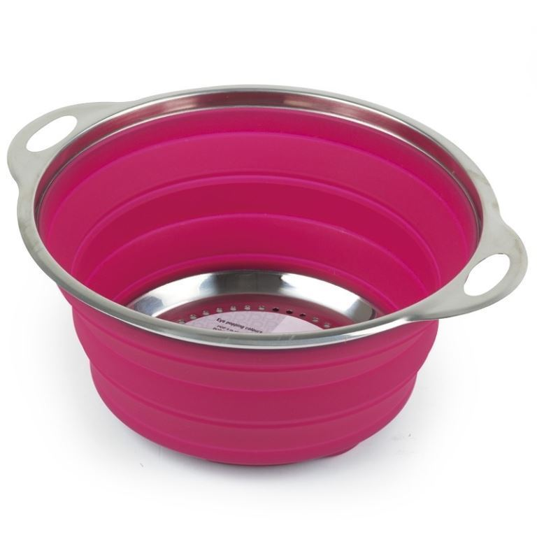 Companion Pop Up Silicone Colander Pink