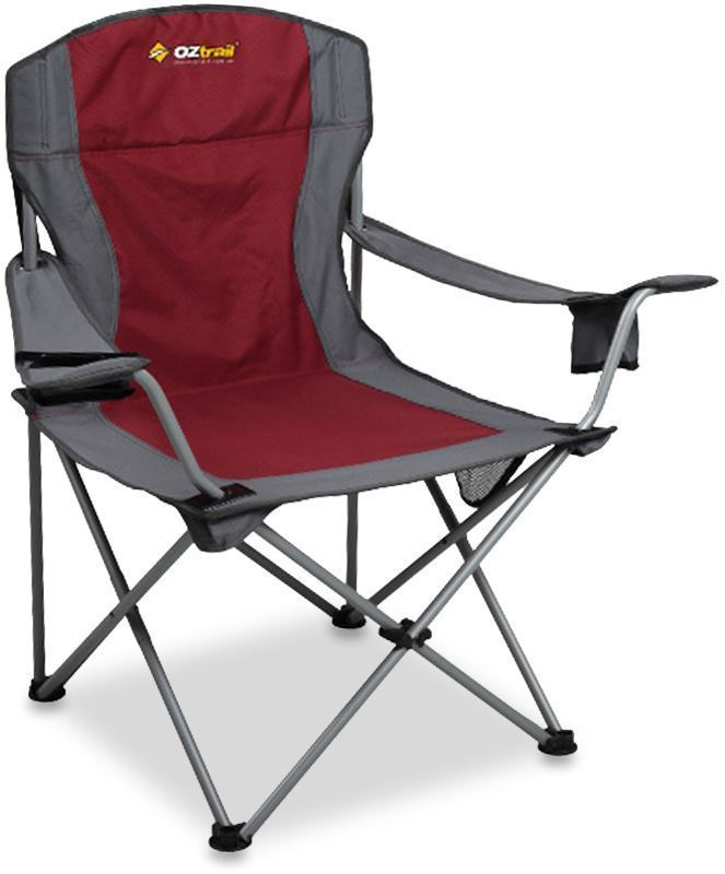 Oztrail Deluxe Jumbo Armchair Red