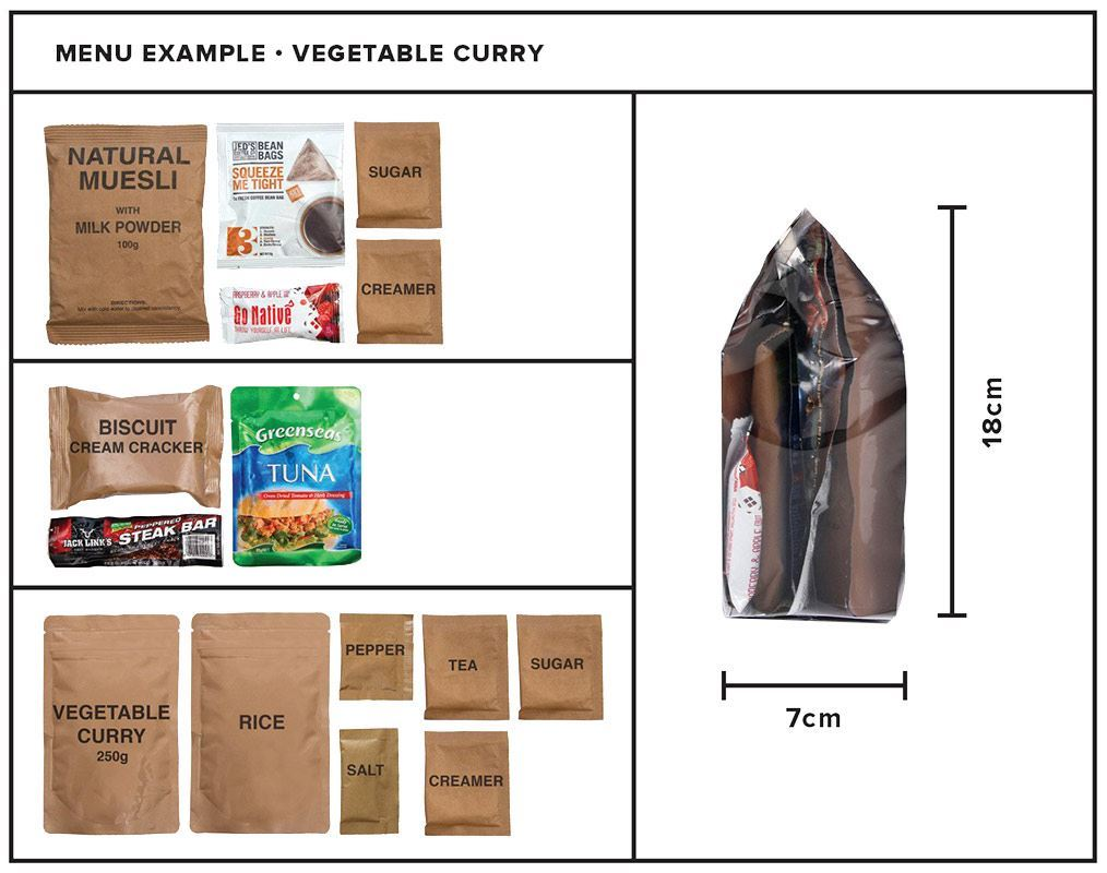 Picture of Go Native Vegetable Curry 24 Hour Food Pack