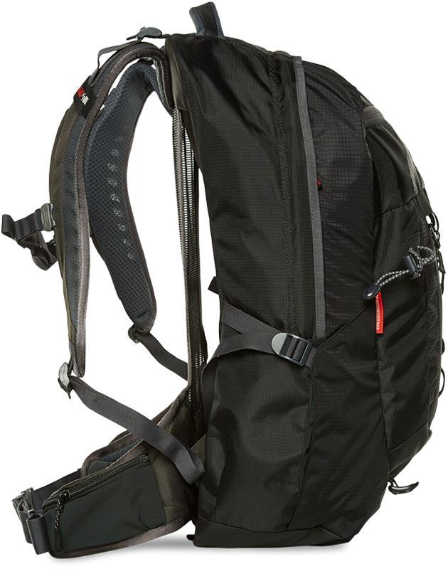 Black Wolf Tempo 40L Backpack Side View