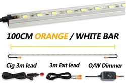 Hard Korr 100cm Orange/White LED Light Kit