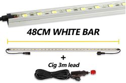 Hard Korr 48cm White LED Light Bar + Cig. Lead