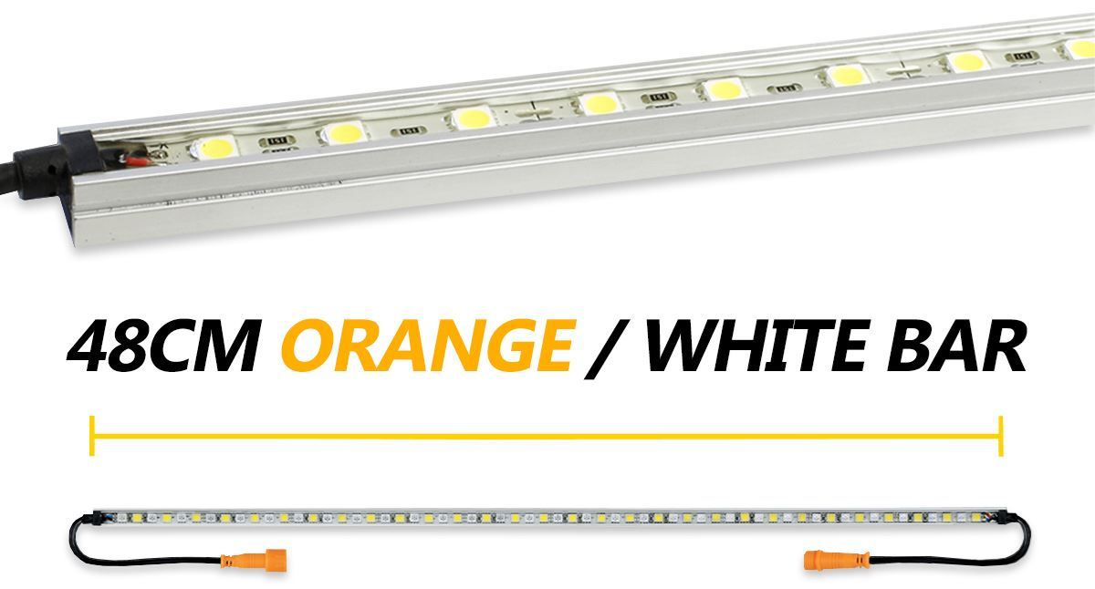 Hard Korr 48cm Orange/White LED Light Bar