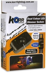 Hard Korr Orange White LED Light Dimmer Switch